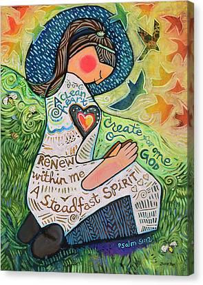 Renewing Canvas Print - A Clean Heart by Jen Norton