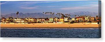 Canvas Print featuring the photograph A Clear Day At The Beach by James Eddy