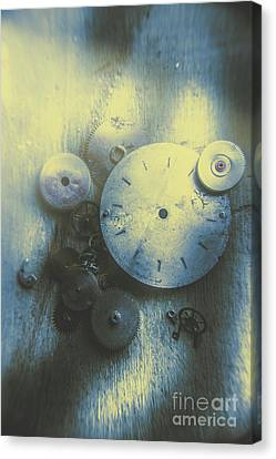 A Clockwork Blue Canvas Print