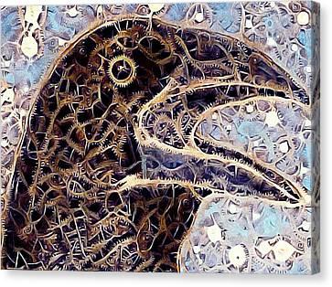 A Clockwork Raven Canvas Print