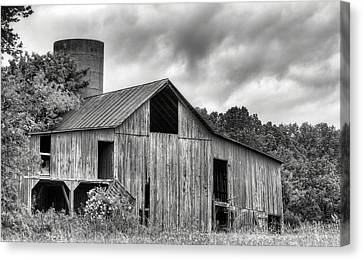 A Cloudy Day Bw Canvas Print