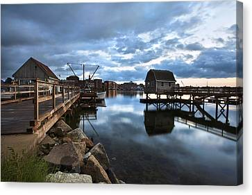 A Coastal Scene Canvas Print by Eric Gendron