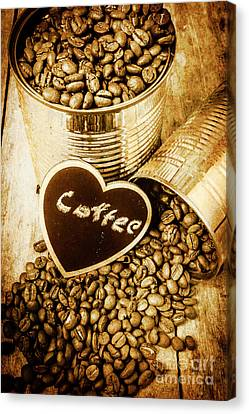 A Coffeehouse Romance Canvas Print by Jorgo Photography - Wall Art Gallery