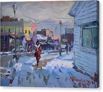A Cold Afternoon In Tonawanda Canvas Print by Ylli Haruni