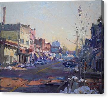 A Cold Sunny Day At Webster St Canvas Print by Ylli Haruni