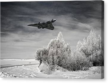 Winter Storm Canvas Print - A Cold Winter by J Biggadike
