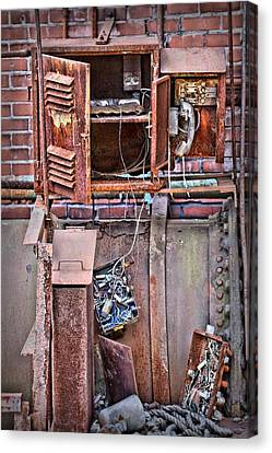 Canvas Print featuring the photograph A Collaboration Of Rust by DJ Florek