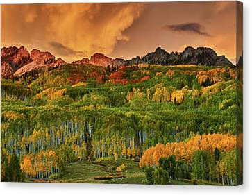 Canvas Print featuring the photograph A Colorado Autumn Along Kebler by John De Bord
