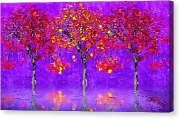 A Colorful Autumn Rainy Day Canvas Print by Gabriella Weninger - David