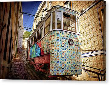 A Colorful Lisbon Tram  Canvas Print