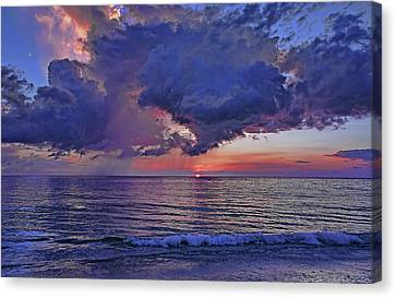 A Colorful Summer Sunset Canvas Print by HH Photography of Florida