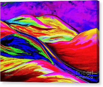 A Colorful World Canvas Print by Annie Zeno