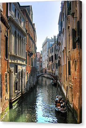 A Common Scene In Venice Canvas Print