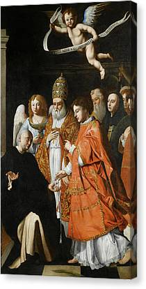 Being Given Canvas Print - A Communion Of Martyrs by Attributed to Andrea Commodi