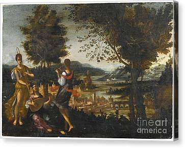 A Concert In A Landscape Canvas Print by MotionAge Designs