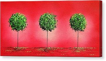 A Contemporary Christmas Canvas Print by Rachel Bingaman