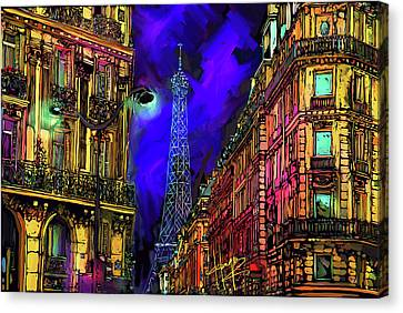 A Corner In Paris Canvas Print by DC Langer