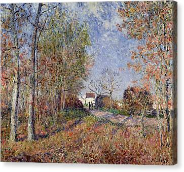 A Corner Of The Woods At Sablons Canvas Print by Alfred Sisley