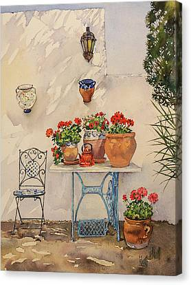 A Corner Of Utes Garden Canvas Print