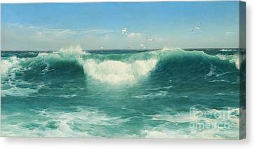 A Cornish Roller Canvas Print by Celestial Images