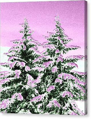 Canvas Print - A Cotton Candy Winter by Will Borden