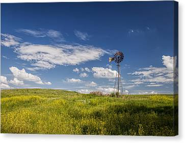 Haybale Canvas Print - A Country Afternoon by Scott Bean