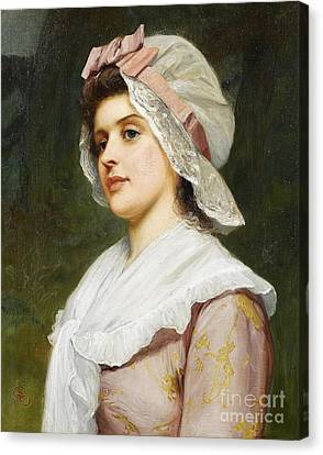 A Country Maid Canvas Print by MotionAge Designs