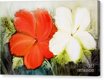 A Couple Of Flowers Canvas Print by Fatima Stamato