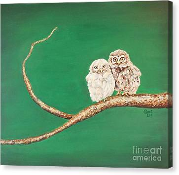 A Couple Of Owls Canvas Print