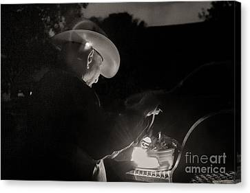 A Cowboys Dinner Canvas Print