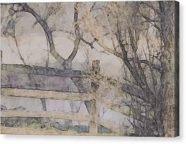 A Creek Runs Through It Canvas Print by Susan Maxwell Schmidt