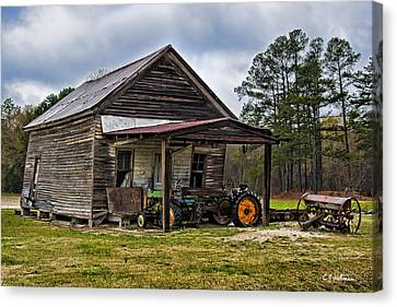 A Crooked Little Barn Canvas Print by Christopher Holmes