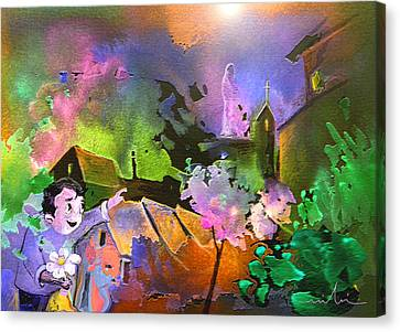 A Daisy For Mary Canvas Print by Miki De Goodaboom