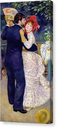 A Dance In The Country Canvas Print by Pierre Auguste Renoir