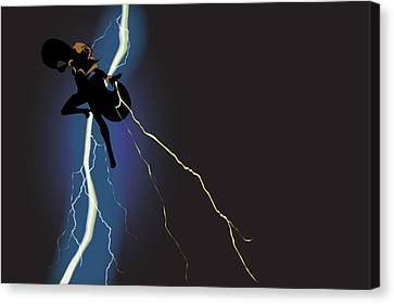 A Dark And Stormy Knight Returns Canvas Print by Paul T Plale