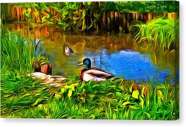 A Day At Lake - Pa Canvas Print by Leonardo Digenio
