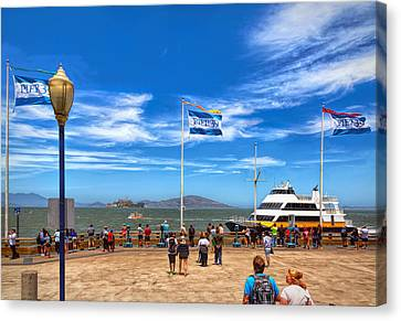 Canvas Print featuring the photograph A Day At Pier 39 by John M Bailey