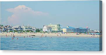 Canvas Print featuring the photograph A Day At The Beach - Cape May New Jesey by Bill Cannon