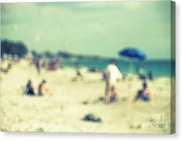 Canvas Print featuring the photograph a day at the beach I by Hannes Cmarits