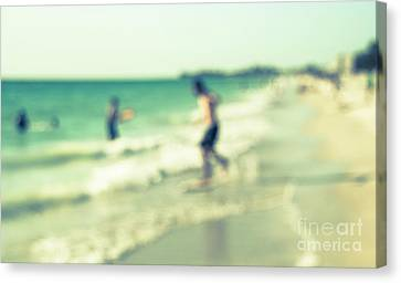 Canvas Print featuring the photograph a day at the beach III by Hannes Cmarits