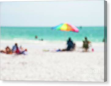 Canvas Print featuring the photograph a day at the beach IV by Hannes Cmarits