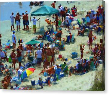 A Day At The Beach Canvas Print by Jeff Breiman