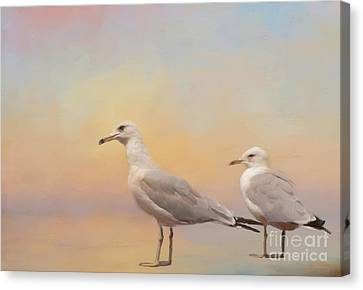 Kathy Rinker Canvas Print - A Day At The Beach by Kathleen Rinker