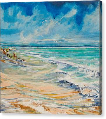 A Day At The Beach Canvas Print by Michele Hollister - for Nancy Asbell