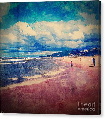 Canvas Print featuring the photograph A Day At The Beach by Phil Perkins