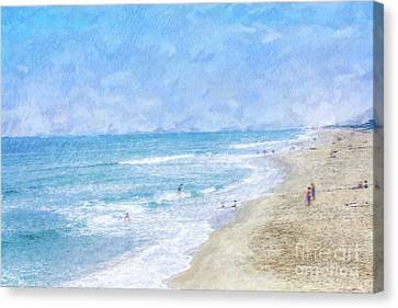 A Day At The Beach Canvas Print by Randy Steele