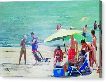 A Day At The Beach Canvas Print