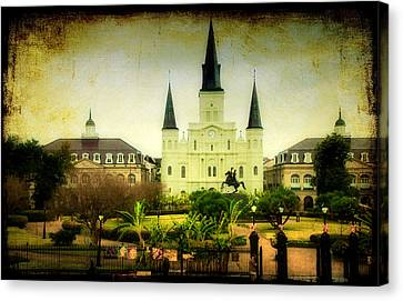 A Day At The Church Canvas Print by Iris Greenwell