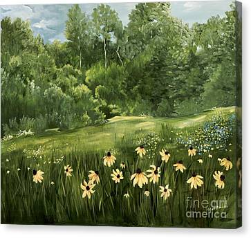 A Day At The Park Canvas Print by Carol Sweetwood