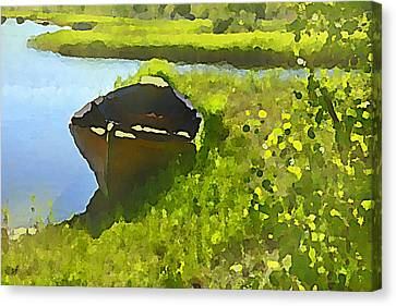 A Day At The Pond Canvas Print